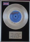 "ELVIS PRESLEY  - 7"" Platinum Disc - I WON'T SEEM LIKE CHRISTMAS"